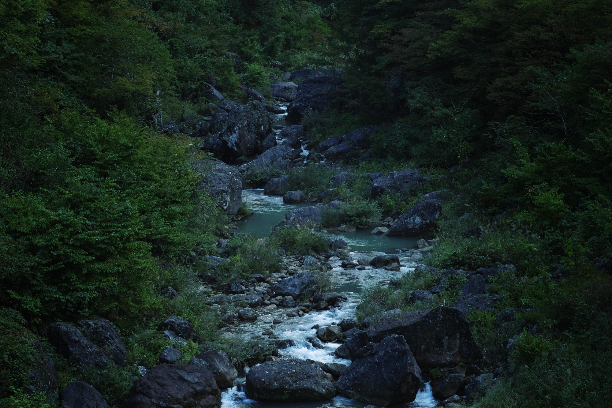 白山の伏流水