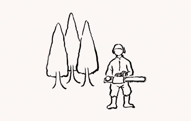 木づかい運動イラスト